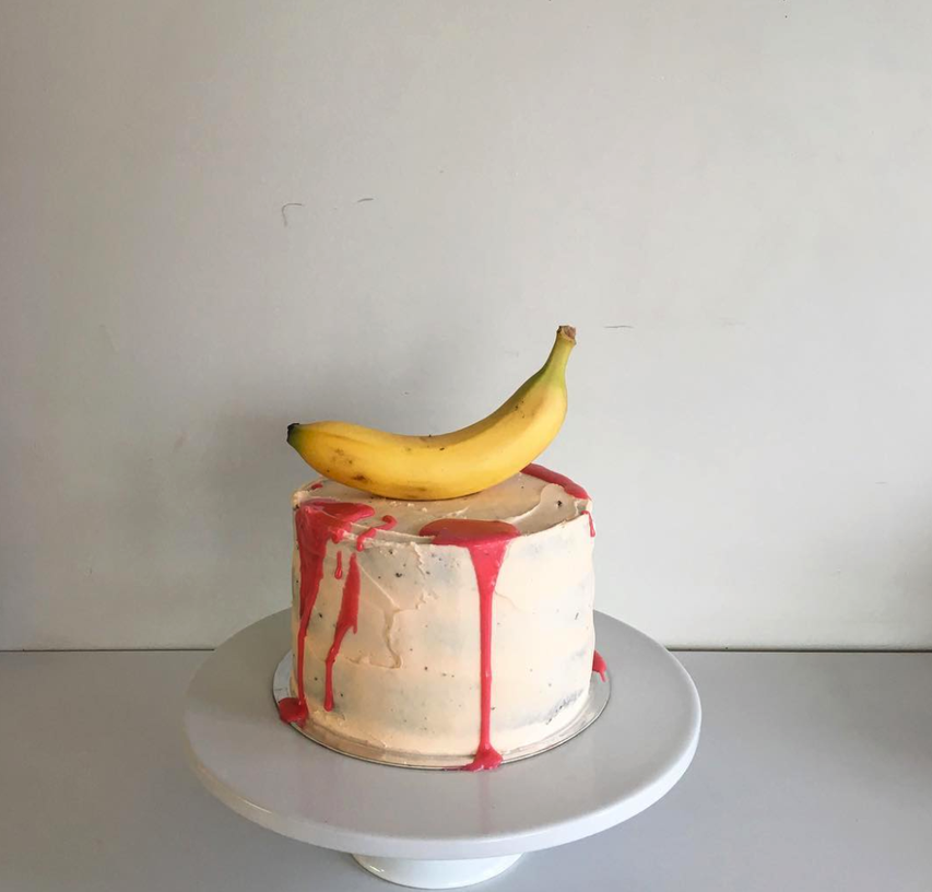 One of a series of cakes Anna made for Wayne Youle's exhibition opening at the Gallery